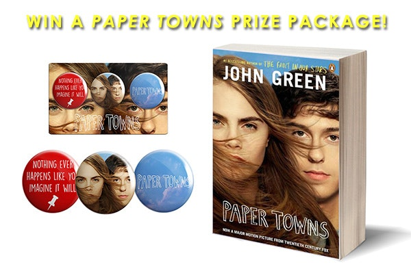 PAPER TOWNS Prize Package sweepstakes