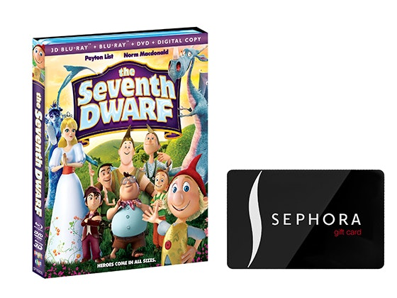 Sephora gift card, The seventh dwarf dvd sweepstakes