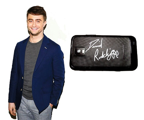 Daniel Radcliffe's Signed Phone sweepstakes