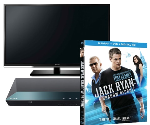 Jack Ryan on Blu-ray and DVD, plus an HDTV and Blu-ray Player sweepstakes