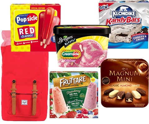 Unilever Ice Creams and a Trendy Backpack sweepstakes