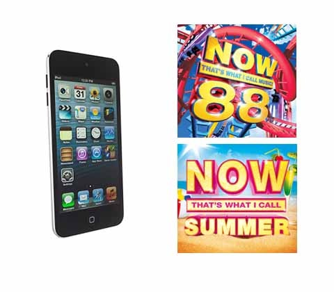 Win a 32GB Apple iPod Touch plus NOW Summer & NOW 88 sweepstakes