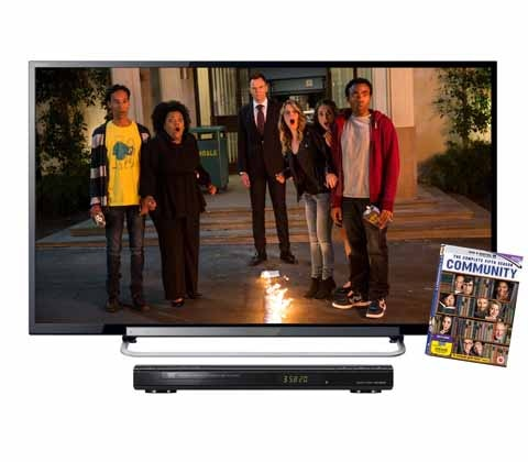 Win a 32in LED TV and a Community DVD sweepstakes