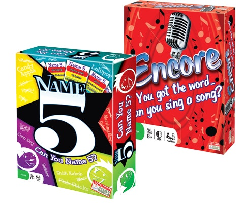 Encore and Name 5 from Endless Games sweepstakes