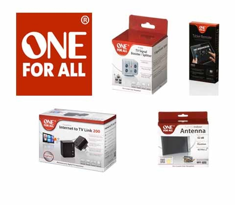 Win 5 x One For All TV accessories sets sweepstakes