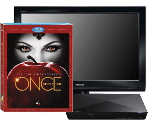 Once Upon a Time: Season 4, plus a TV and Blu-ray Player sweepstakes