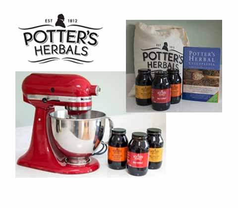 Win a KitchenAid mixer & Potter's Herbals goodies sweepstakes