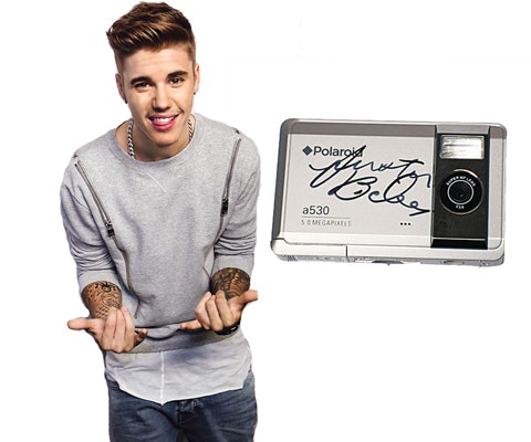 Justin Bieber's Signed Camera sweepstakes