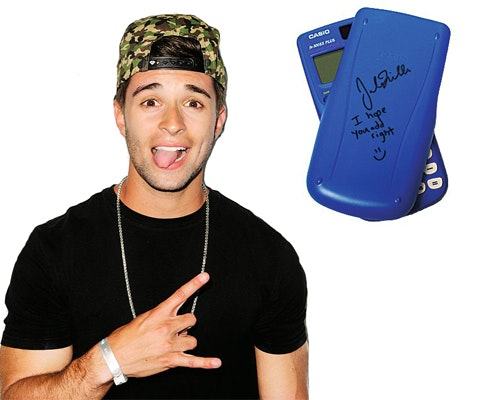 Jake Miller's Signed Calculator sweepstakes