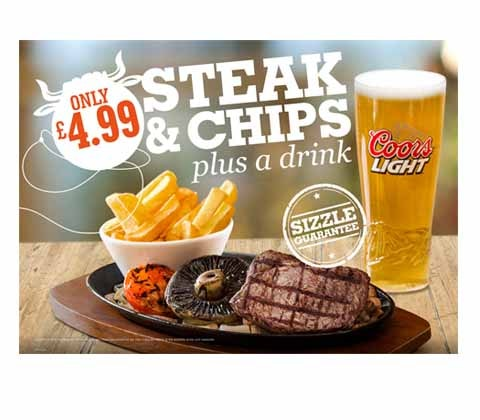 Sizzling Pubs gift cards sweepstakes