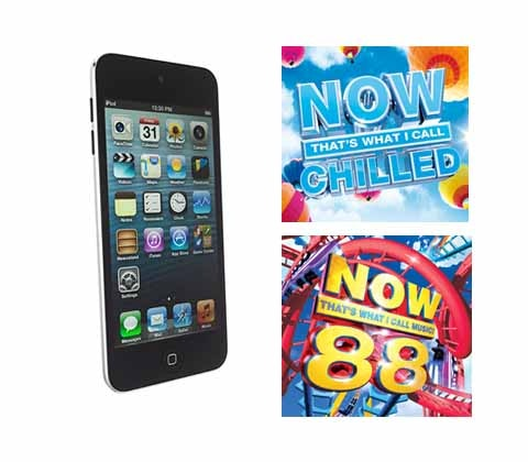 Win a 32GB iPod Touch plus NOW Chilled & Now 88 CDs sweepstakes