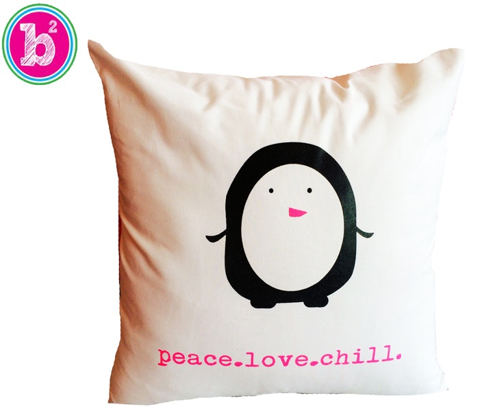 Peace.Love.Chill Penguin Pillow from Bashful Bliss sweepstakes