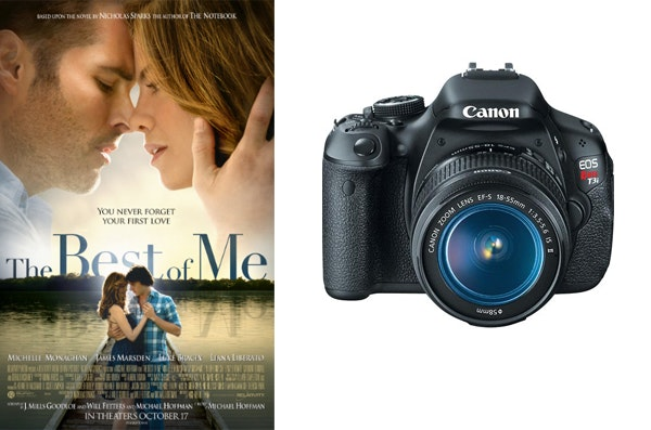 Canon DSLR Camera and The Best of Me Prize Package sweepstakes