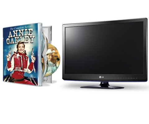 LG Flatscreen TV and Annie Oakley on DVD sweepstakes