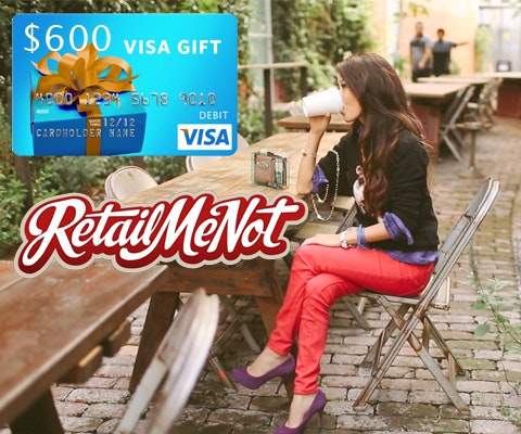 $600 Gift Card from RetailMeNot.com sweepstakes