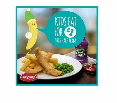Win 3 x £50 to spend at Sizzling Pubs sweepstakes