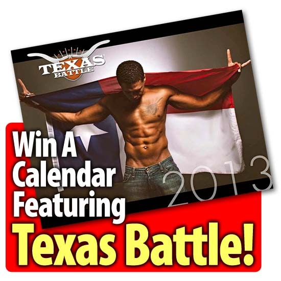 calendar featuring Texas Battle sweepstakes