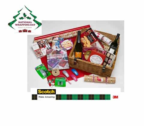 Christmas hamper & gift vouchers with 3M Scotch Pop-Up tape sweepstakes