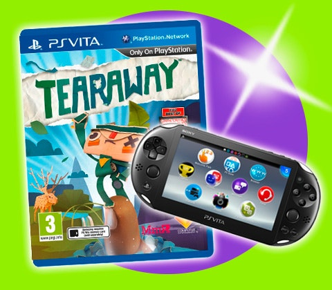 Sony PS Vita and Tearaway game sets. sweepstakes