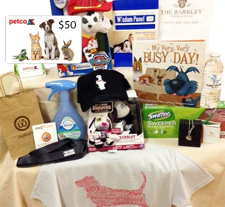 Fox Cause for Paws Celeb Gift Bag sweepstakes