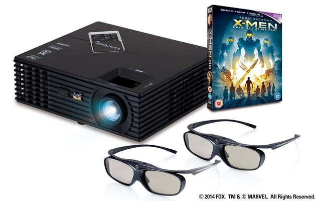 ViewSonic PJD7820HD, X-Men: Days of Future Past on Blu-ray 3D and two pairs of 3D glasses sweepstakes