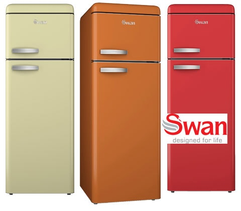 Swan Vintage-style top mounted fridge freezer sweepstakes