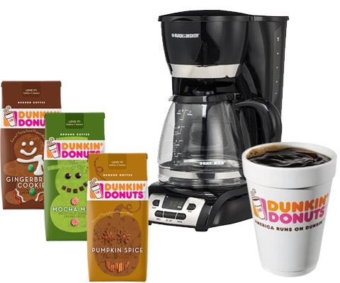 Dunkin Donuts Seasonal Coffee Flavors and a Coffee Maker  sweepstakes