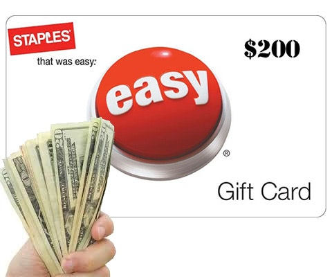 $200 Gift Card to Staples sweepstakes