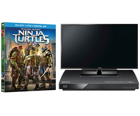 TMNT on Blu-ray Combo plus a TV and Blu-ray Player sweepstakes