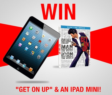Get On Up and a 16GB iPad Mini sweepstakes