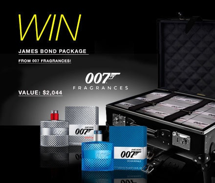 James Bond Package sweepstakes