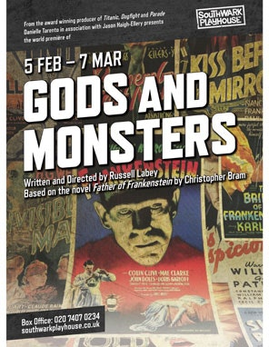 Win a pair of tickets to Gods and Monsters at the Southwark Playhouse sweepstakes