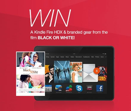 Kindle Fire HDX from BLACK OR WHITE sweepstakes