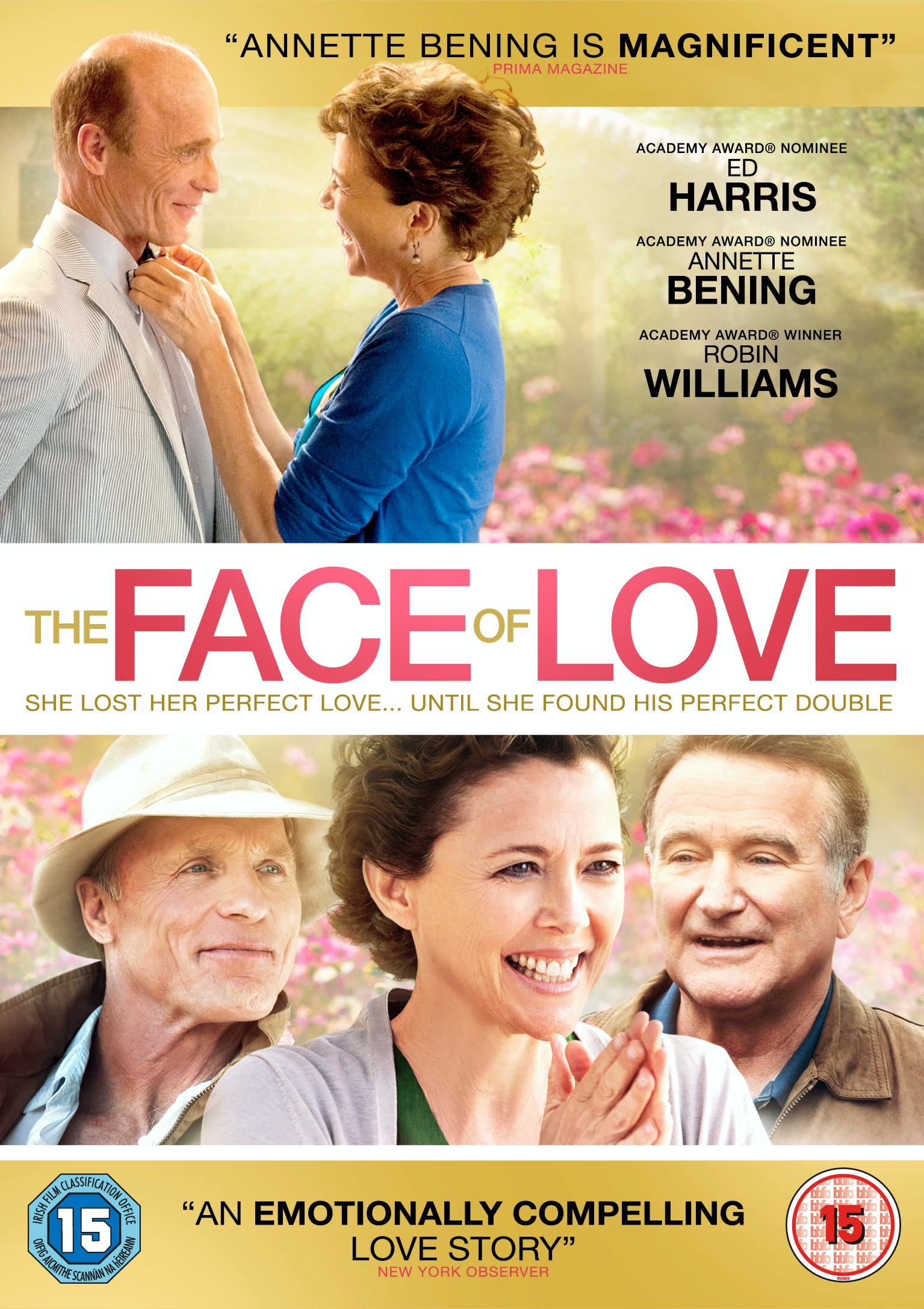 win your own copy of The Face of Love on DVD sweepstakes