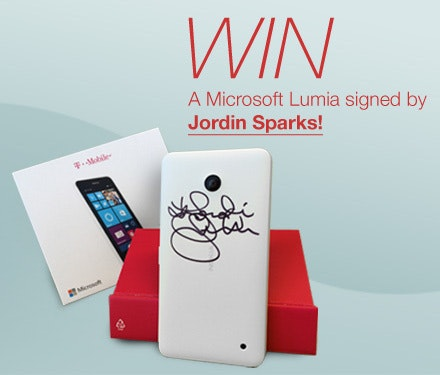 Microsoft Lumia Signed by Jordin Sparks sweepstakes