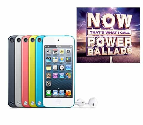 Win an Apple iPod Touch & NOW That's What I Call Power Ballads sweepstakes