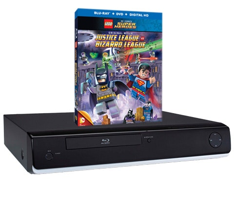 Win 2 x Blu-ray players & Justice League vs Bizarro League sweepstakes