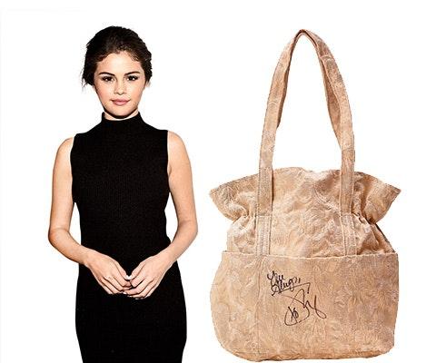 Selena signed bag