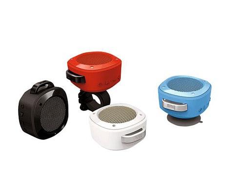 Portable bike speakers