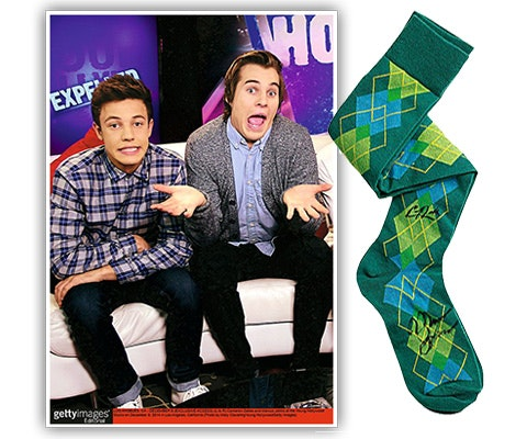 Cameron and Marcus Signed Socks sweepstakes