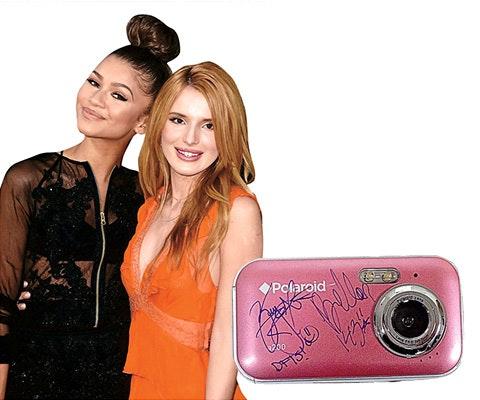 Zendaya and Bella signed polaroid camera sweepstakes