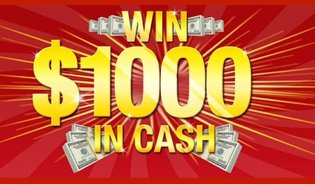 $1000 in Free Cash March-April sweepstakes