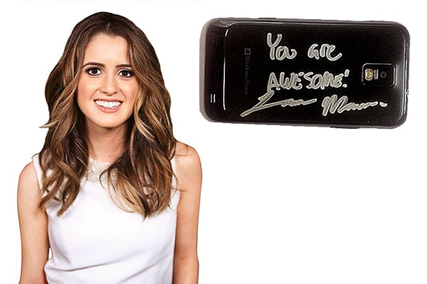Laura Signed Cell Phone sweepstakes