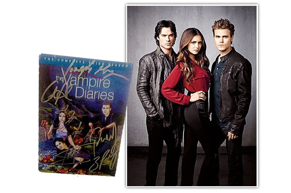 THE VAMPIRE DIARIES signed DVD sweepstakes