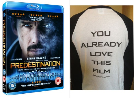 PREDESTINATION BLU-RAY and BASEBALL SHIRT. sweepstakes