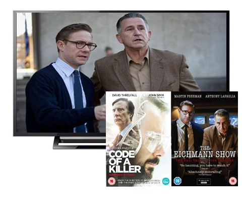 Win a Sony 40in TV & The Eichmann Show & Code Of A Killer DVDs  sweepstakes
