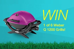 Weber Q1200 Grill sweepstakes