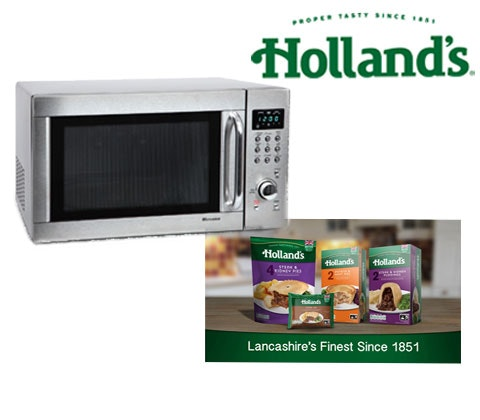 Win 2 x Microwave ovens & Holland's pies sweepstakes