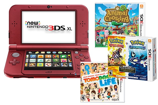 Nintendo 3DS XL plus Games sweepstakes