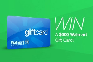 $600 Walmart Gift Card from Viactiv sweepstakes